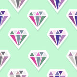 Diamonds. Abstract seamless pattern Stock Photography