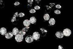 Diamonds on a black background Royalty Free Stock Photos