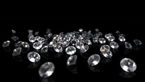 Diamonds on black background Royalty Free Stock Image