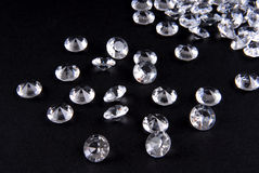 Diamonds on black background Royalty Free Stock Image
