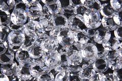 Diamonds on black background. Close up of the diamonds on black background Royalty Free Stock Photos