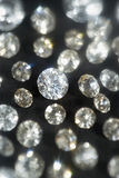 Diamonds on black background selective focus Royalty Free Stock Photo