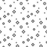 Diamonds black and white seamless pattern Stock Images