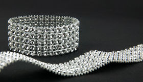 Diamonds bracelet Stock Images