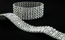 Diamonds bracelet Royalty Free Stock Photos