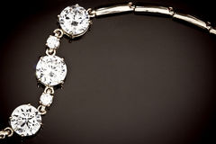 Diamonds bracelet Stock Photo