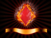 Diamonds Card Royalty Free Stock Images