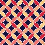 Diamonds and circles pattern petals Stock Photos