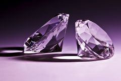 Diamonds close-up Royalty Free Stock Photos