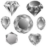 Diamonds collection Royalty Free Stock Image