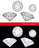 Diamonds collection. Royalty Free Stock Photo