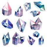 Diamonds collection Royalty Free Stock Photos