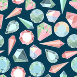 Diamonds and crystals Royalty Free Stock Photos