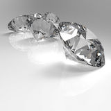 Diamonds 3d in composition Stock Images