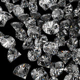 Diamonds 3d in composition as concept Stock Photo