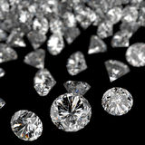 Diamonds 3d composition on black Royalty Free Stock Photo