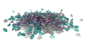 Diamonds 3D illustrations texture, background Stock Photography