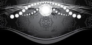 Diamonds on the decorative background Stock Image