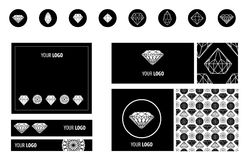Diamonds design elements Royalty Free Stock Images