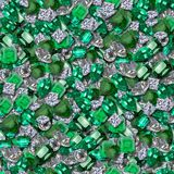 Diamonds and Emeralds. Diamonds and Rubies Seamless Texture Tile royalty free stock image