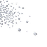 Diamonds falling Stock Images