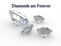 Diamonds are Forever - Concept Stock Image