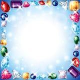 Diamonds and gemstones  frame Royalty Free Stock Image