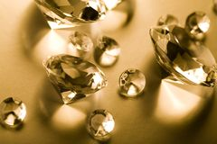Diamonds - Gemstones - Jewels Stock Photography
