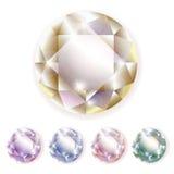 Diamonds gemstones. Diamonds Vector colorful bright Stock Photo