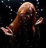 Diamonds girl stock photo