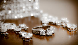 Diamonds are a girls best friend Royalty Free Stock Photos