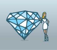 Diamonds are a girls best friend Stock Photos