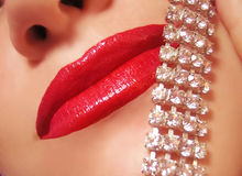 Diamonds and gloss royalty free stock photos