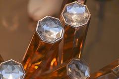 Diamonds on gold bar Royalty Free Stock Photo