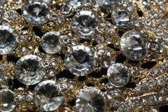 Diamonds and Gold Macro royalty free stock photography