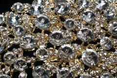 Diamonds and Gold Macro stock image