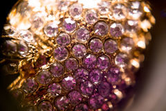 Diamonds and Gold SuperMacro royalty free stock photo
