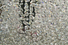 Diamonds hanging (crystal, diamond background, wallpaper). Diamonds hanging from ceiling (crystal, diamond background, wallpaper royalty free stock photo