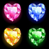 Diamonds of heart Stock Image