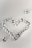 Diamonds heart Stock Photos