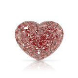 Diamonds heart shaped gemstone  on white backgroun Stock Image