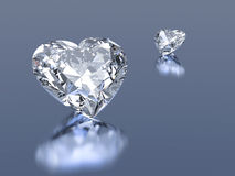 Diamonds hearts stone. Group of 2 diamonds hearts stone stock illustration