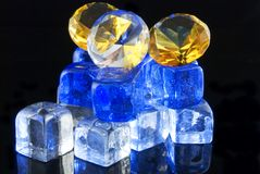 Diamonds and ice Royalty Free Stock Photo