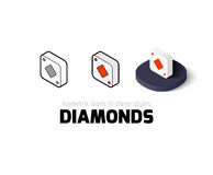 Diamonds icon in different style Stock Photography