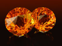 Diamonds ... II. Glas diamonds on black background with diffrent light Stock Images