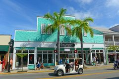 Diamonds International at Duval Street in Key West Royalty Free Stock Photos