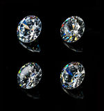 Diamonds. Isolated on black background Stock Photos
