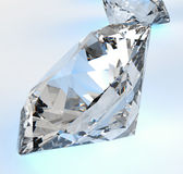 Diamonds isolated  Stock Photography