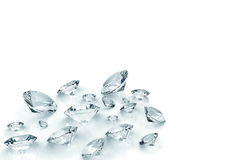 Diamonds isolated on white Stock Photo