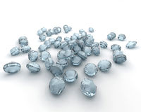 Diamonds isolated on white Royalty Free Stock Image